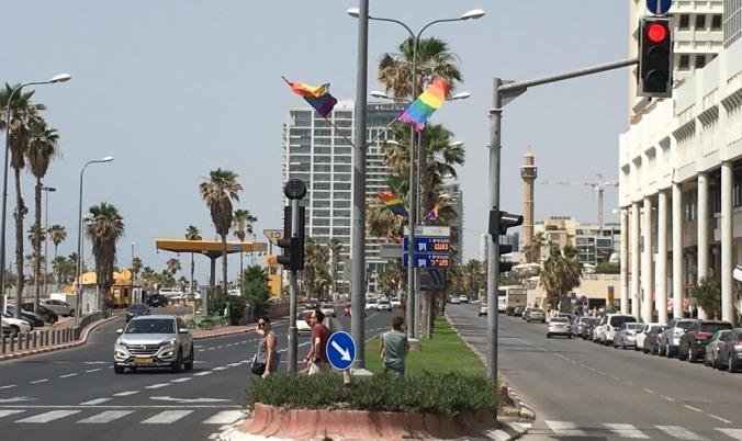 TelAviv_rainbowflags_street